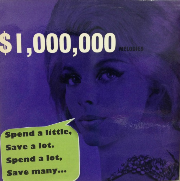 1960's Upcycled Record Cover $1,000,000 Melodies