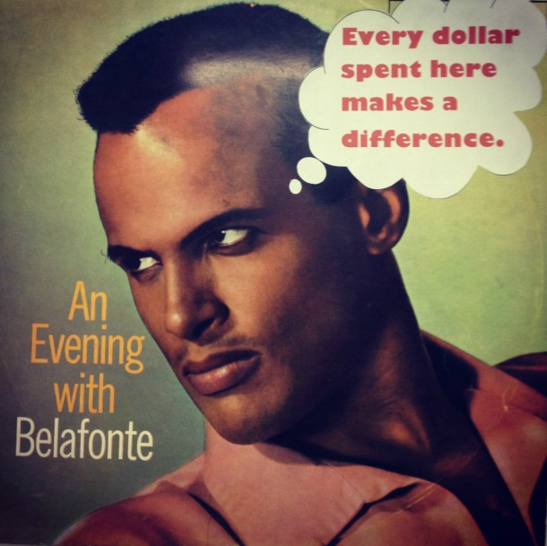 1960's Upcycled Record Cover Belafonte
